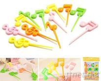 音符造型水果叉(12PCS/SET)