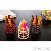 創意鳥籠水果叉