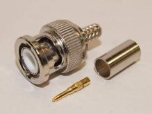 同軸連接器 - BNC 公頭公針 for 58線
