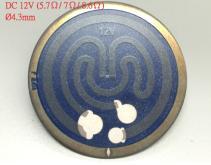 DC12V不鏽鋼厚模發熱片(≒ 5.7Ω/ 7Ω/ 8.6Ω)