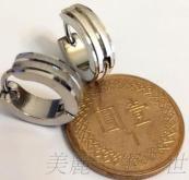 手工絲紋 (一對) 不銹鋼針耳環