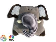 大象抱枕毯被子兩用, 午睡毯, 辦公室單人蓋毯-Logo客製化訂作