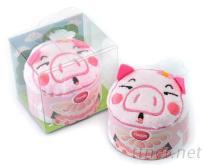 豬豬造型蛋糕毛巾
