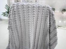 鑽石紋絨毛毯