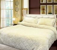 素色絨毛床包