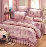 蕾丝床罩组