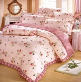 薔薇粉床包組