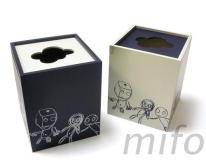 網印-木製面紙盒(正方型)