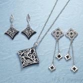 鋯石項鍊墜飾耳環流行飾品