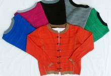 針織開襟毛衣外套