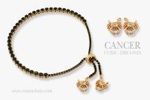 CANCER 925纯银宝石手链