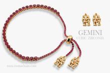 GEMINI 925纯银宝石手链