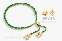 PISCES 925纯银宝石手链