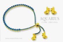 AQUARIUS 925純銀寶石手鍊