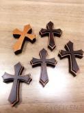 十字架 /木製十字架/雷射雕刻/飾品配件/木質項鍊