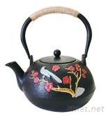 1.2L铸铁茶壶(双铁红叶孔雀)