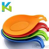 食品級矽膠防滑隔熱勺拖 廚房家用小廚具37G 創意家居勺拖 隔熱墊