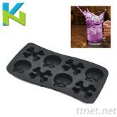 矽膠冰格模具 食品級矽膠冰格模具 骷髏頭冰格模具