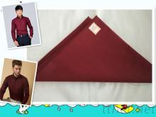 北t/c65/35滌棉府綢混紡服裝面料梭織面料服裝里料的確良布平紋酒紅色純色滌棉面料襯衫連衣裙