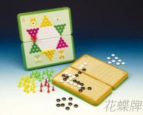 (折叠式彩色铁盒) 磁铁跳棋、围棋