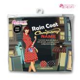 【COCORO樂品】日式風/雨衣-時尚黑