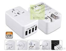 全球通四USB萬能旅行給合轉換插頭(USB足4.8A)