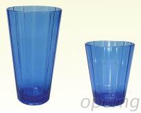 蓝色直条高杯, 直条低杯