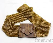 串珠腰帶 米珠編織腰鏈 串珠彈性腰飾 米珠鬆緊腰帶