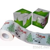 耶誕節彩色印花捲筒衛生紙