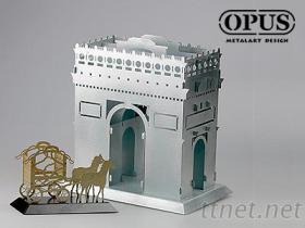 凯旋门马车 3D金属拼图 客制化金属 金属模型
