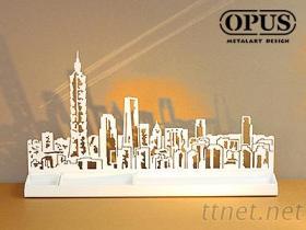OPUS 印象台北 天际线 收纳架 居家摆饰 橱窗摆设布置