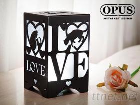 OPUS文創USB小夜燈-單色光 愛戀貓語 情人節 婚禮小物 LED燭光