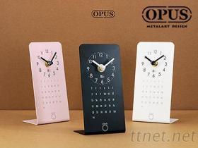OPUS東齊金工 Take a break- L型小桌鐘 日期 月曆 記事 桌鐘 座鐘