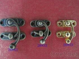 大量供應箱包五金配件 牛角鎖 小纖鎖 仿古箱扣 木箱鎖扣 彎鉤鎖扣