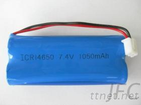 7.4V鋰電池組, ICR14650 圓柱鋰電池及鋰電池組