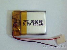 電池502025, 帶充放保護電路軟包電池