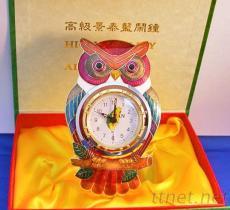 貓頭鷹造型鬧鐘, 景泰藍家用禮品, 文具禮品系列, 客製化禮贈品