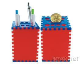 DIY三色笔筒&存钱筒