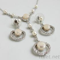 珍珠锆石饰品套组