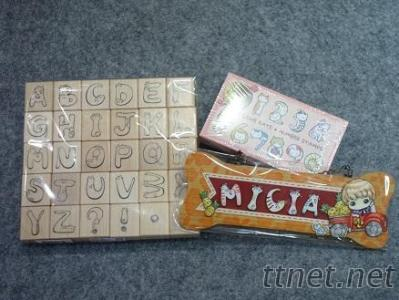 字母楓木印章