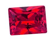 人造紅寶石 長方型 ES 紅色 #5  4mm x 6mm