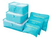 韓版旅行用行李收納袋套裝衣物整理內衣收納包六件套(ST815005502)