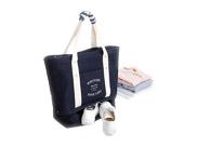 雙層單肩斜挎超大號帆布包旅行收納袋行李包運動健身包(FB710013004)