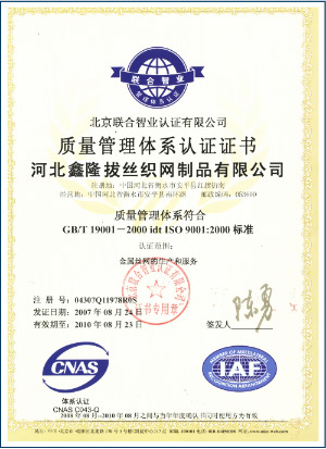 Hebei xinlong wire drawing and galvanized Co.,Ltd.