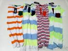 Wholesale Cheap Short Sleeves Color O Neck T Shirt / Striped Cotton Spandex Sweat Proof Summer T-Shirt