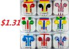 Earbuds with Microphone Stereo Colorful World Cup Earphones with Microphone