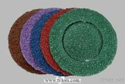 Various Color Metallic Glass Charger Plates From TYLORS GLASS