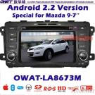 Car DVD GPS for MAZDA 9 with Android System 3G Dongle Function and WIFI
