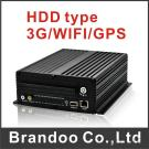 HDD type 3G Mobile DVR,works with GPS and WIFI, free CMS client BD-304H
