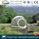 Temporary insulated structure dome tent, soundproof dome tent camping glamping